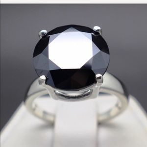Jewelry - 5.28 cts Black Diamond ring925 sterling silver New
